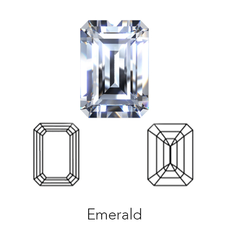 emerald cut display of LONITÉ memorial diamond from hair or cremation ashes
